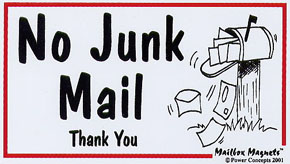 No junk mail please | Mr. Barlow's Blog