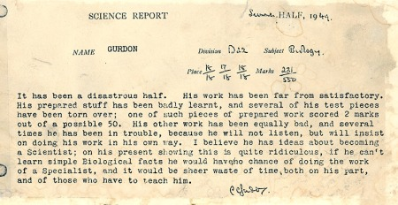 John Gurdon Report