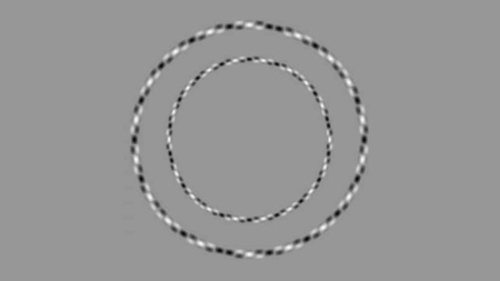 Two circles illusion