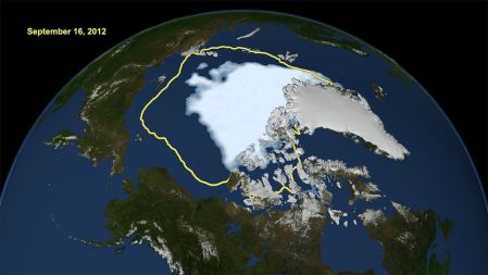 Arctic ice cap 2012
