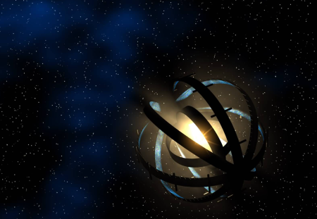 A drawing of a Dyson Sphere